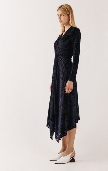 Knot Devore Midi Dress