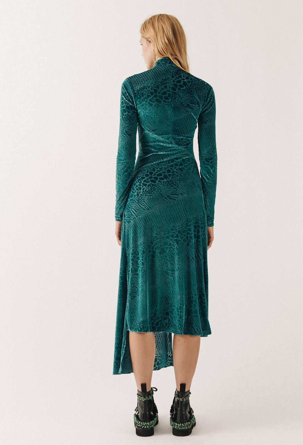 Robe Asymétrique Serpent Devore