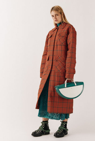 Bright Check Padded Overcoat