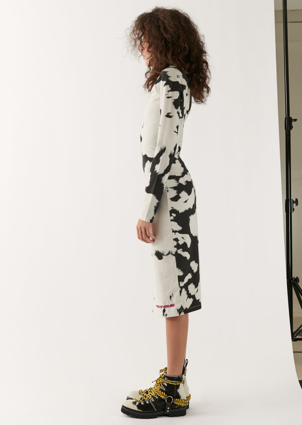 Cow Print Bodycon Midi Dress