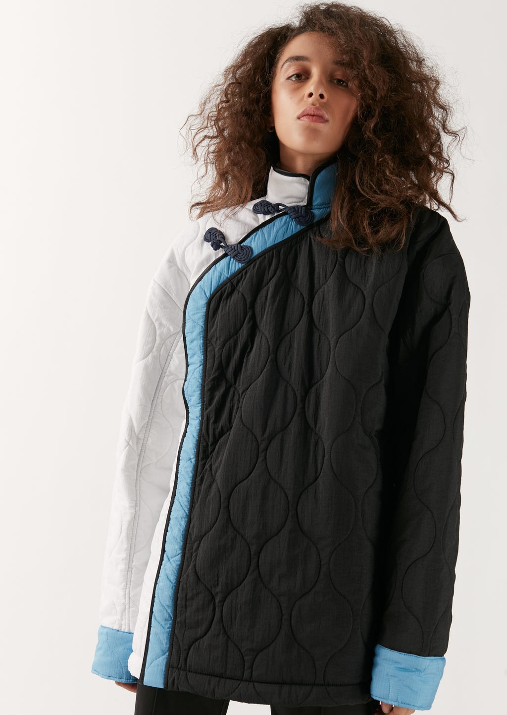 Quilted Asymmetrical Jacket