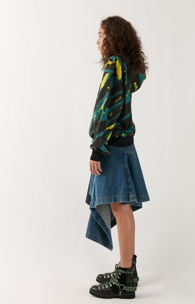 Folded Denim Skirt