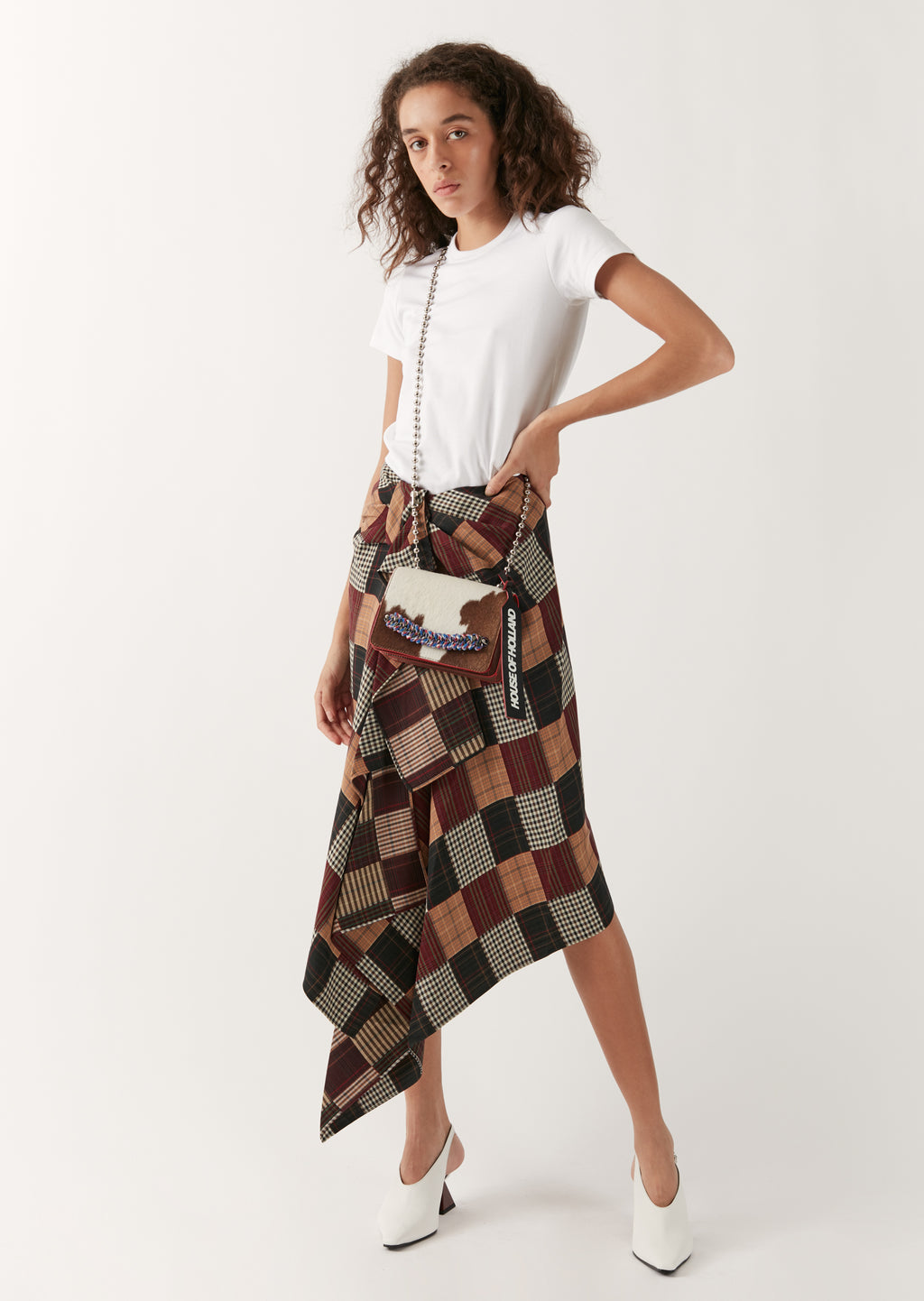 Patchwork Folded Skirt