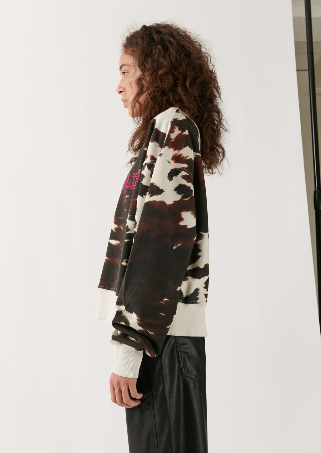 Brown Cow Print Sweatshirt