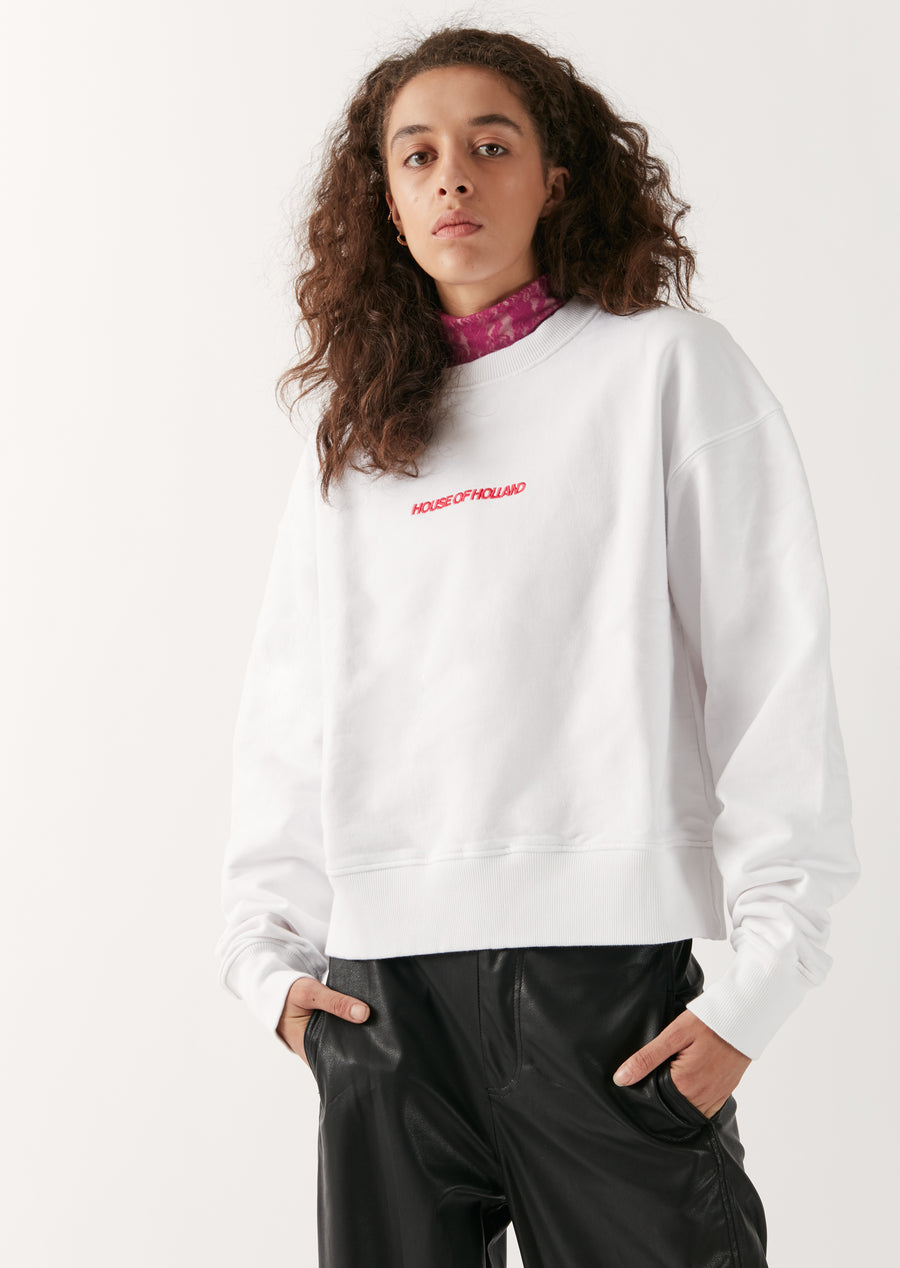 Branded White Sweatshirt