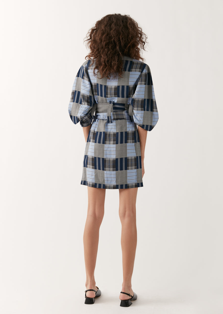 Patchwork Safari Mini Dress