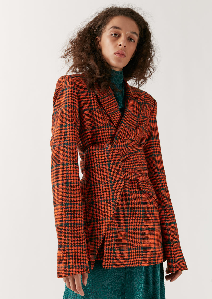Bright Check Tailored Jacket