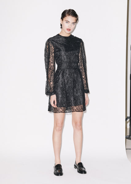 Short Long sleeve Dress (BLACK)