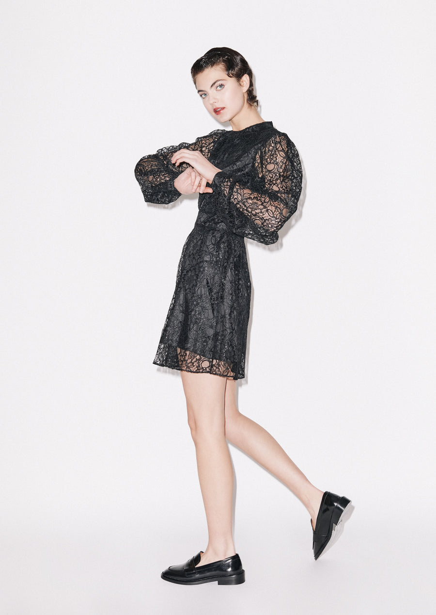Short Lace Dress (BLACK)