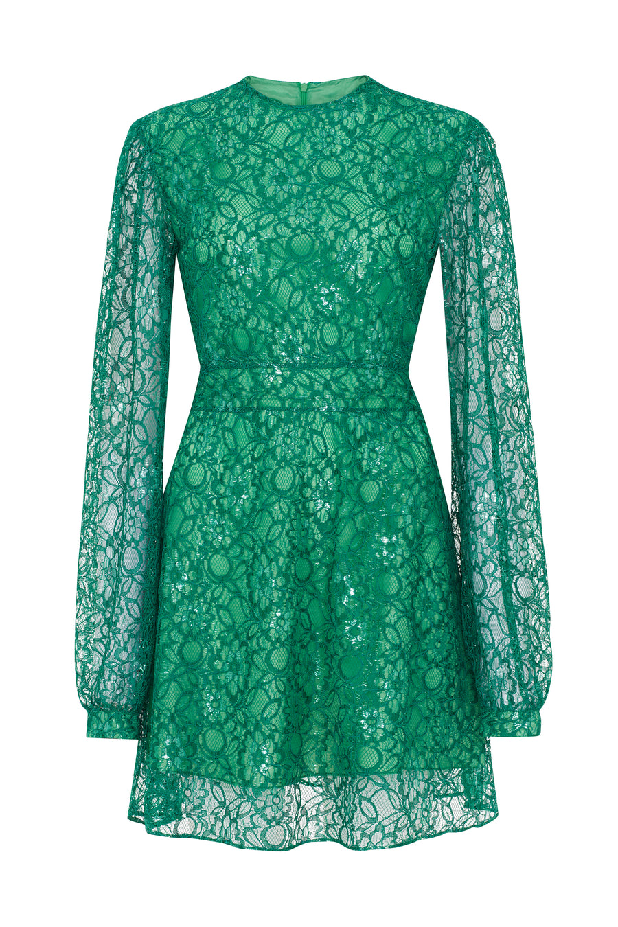Short Long sleeve Dress (GREEN)