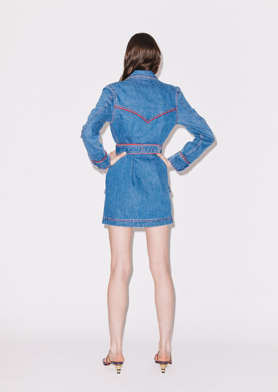 Western Denim Dress