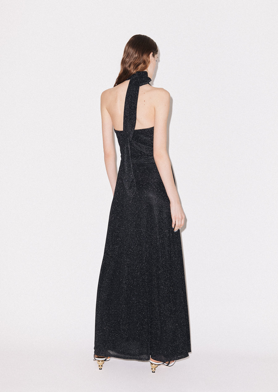 Tie- Neck Maxi Dress