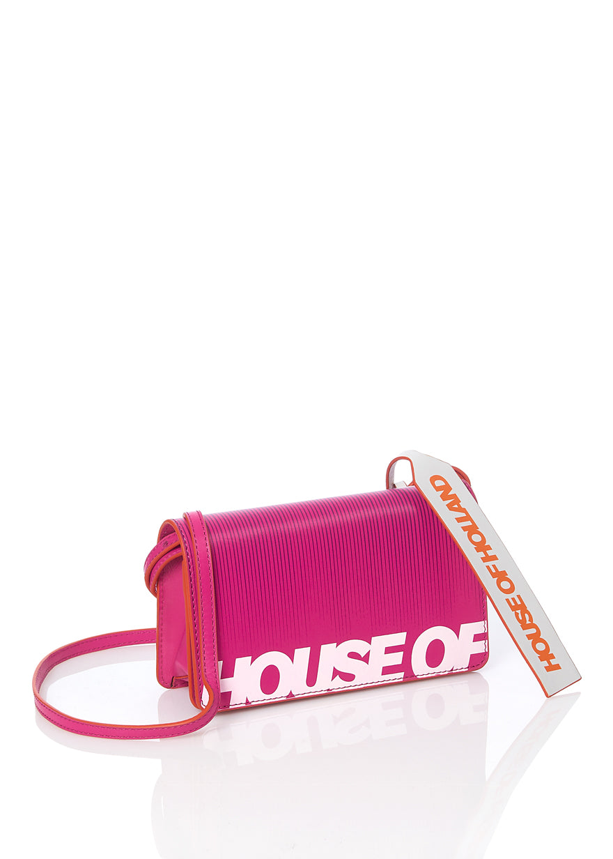 Bright Print Cross Body Wallet Bag