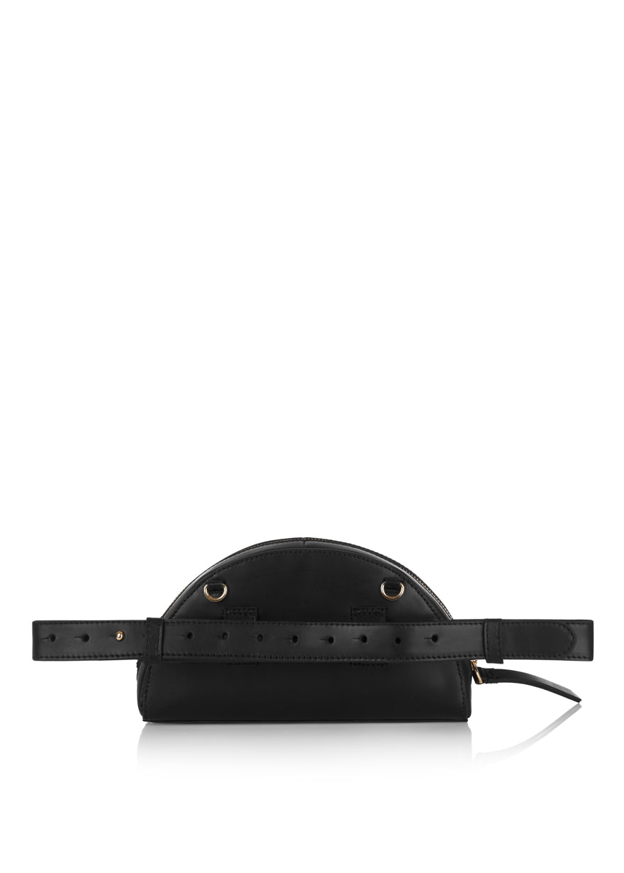 Half Moon Clutch Bag (Black)