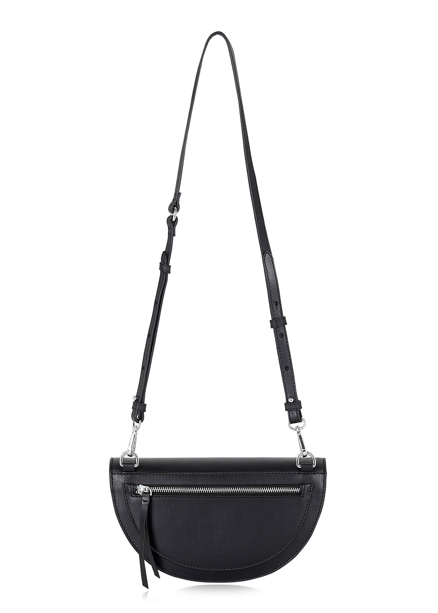 Black Half Moon Crossbody Bag