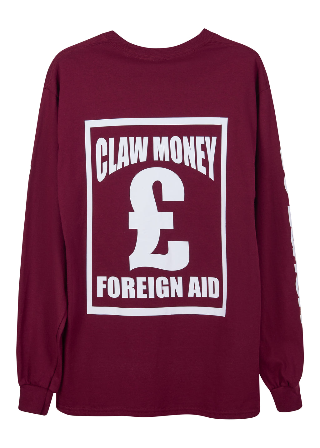 @clawmoney 'Branded Money Man' Long Sleeve Tee