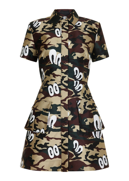 KHAKI HATTIE SHIRT DRESS