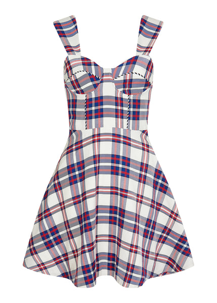 Tartan Fit and Flare Dress