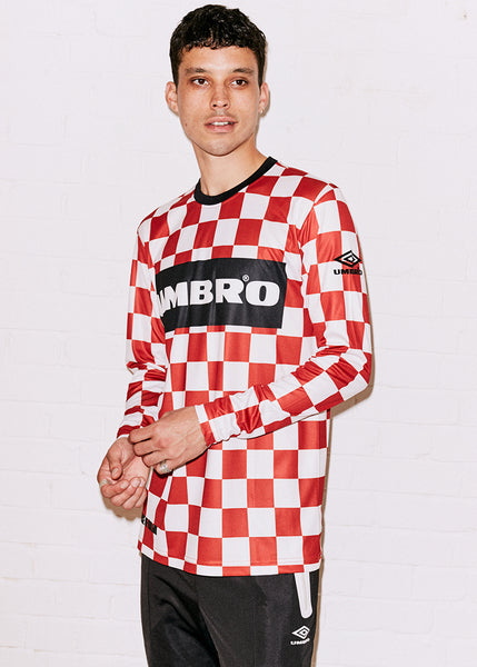 Red and White Football Shirt