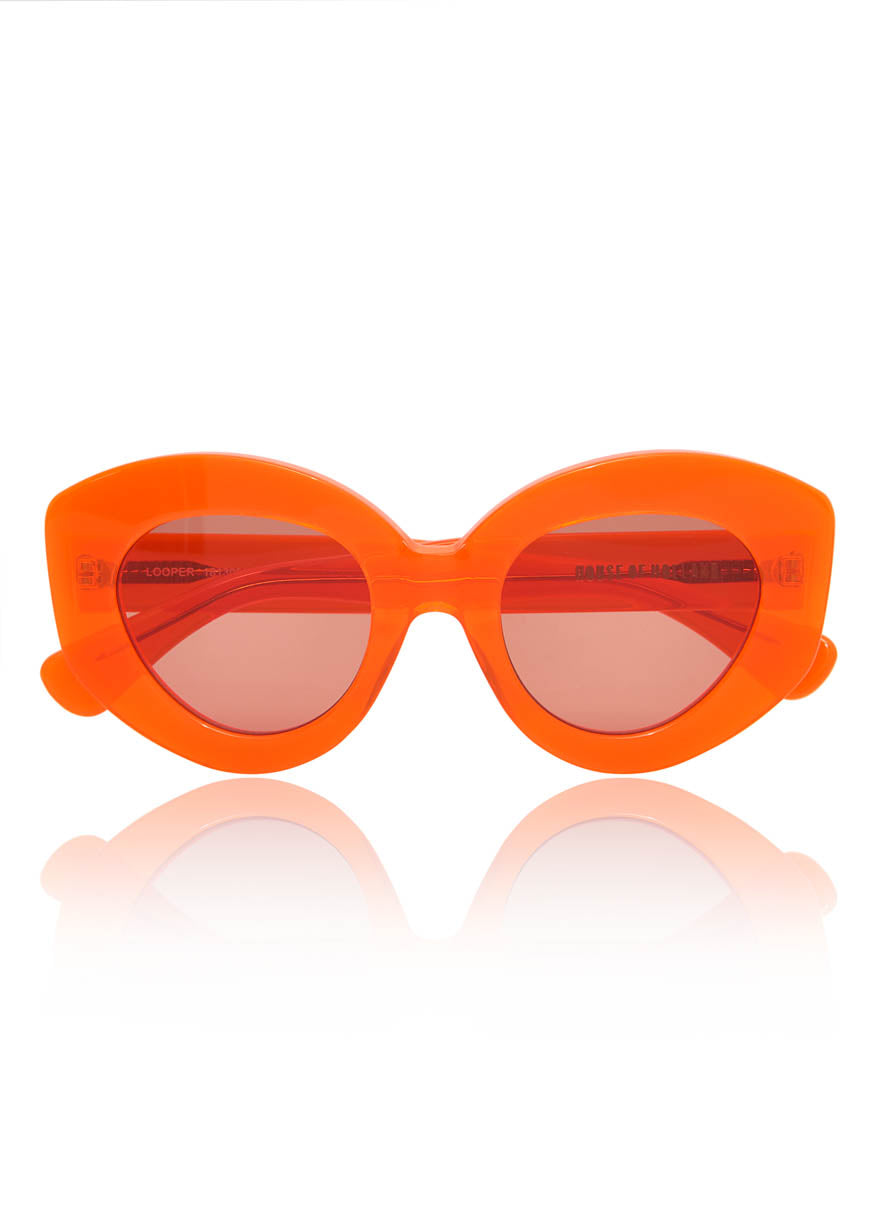 Orange 'Looper' Sunglasses by House of Holland
