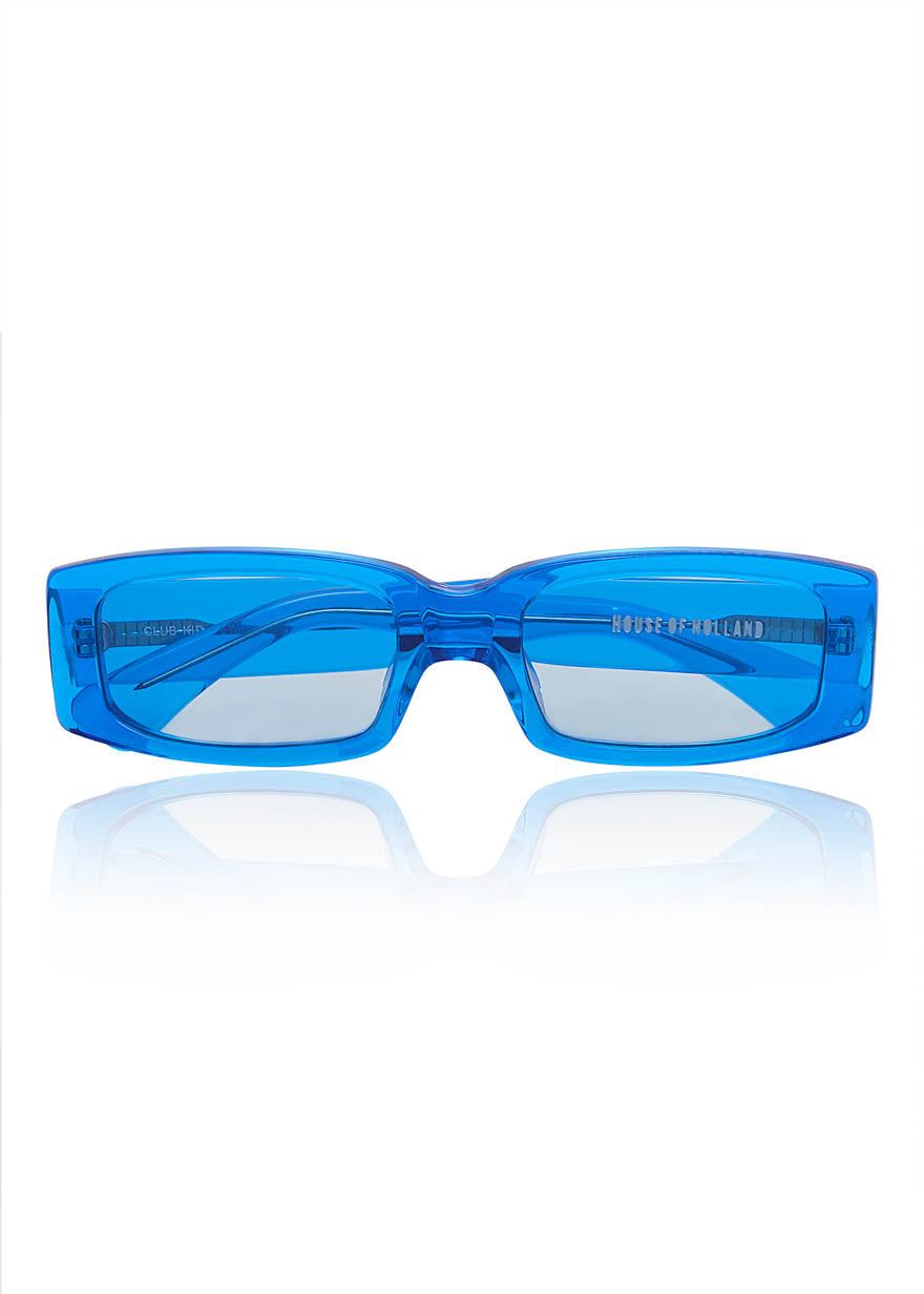 Lunettes de soleil «Club Kid» bleues de House of Holland