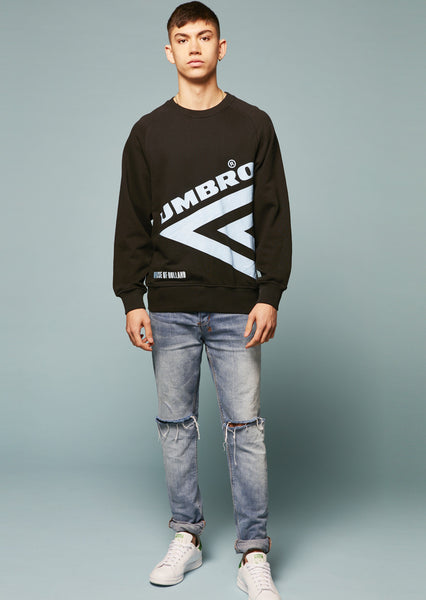 Umbro Diamond Side Rib Sweatshirt (Black)