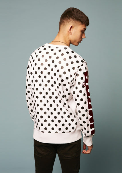 Umbro Polka Dot Side Rib Sweatshirt