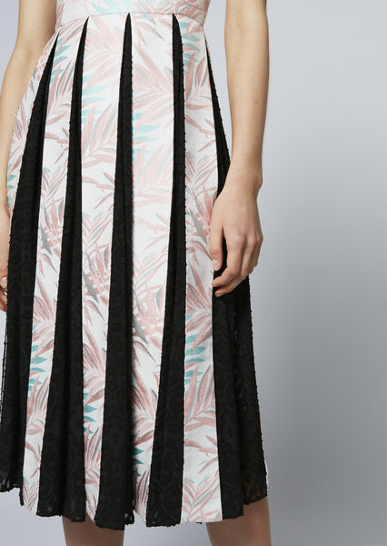 Palm Leaf Pleated Dress