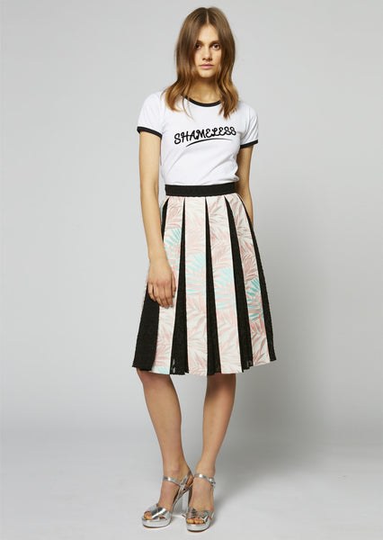 Palm Leaf Pleated Skirt