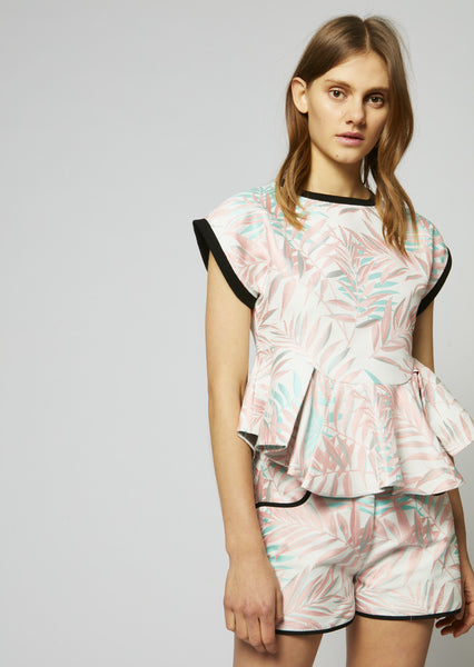 Palm Leaf Frill Top