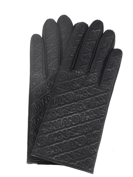 Nappa Leather Logo Gloves (Black)