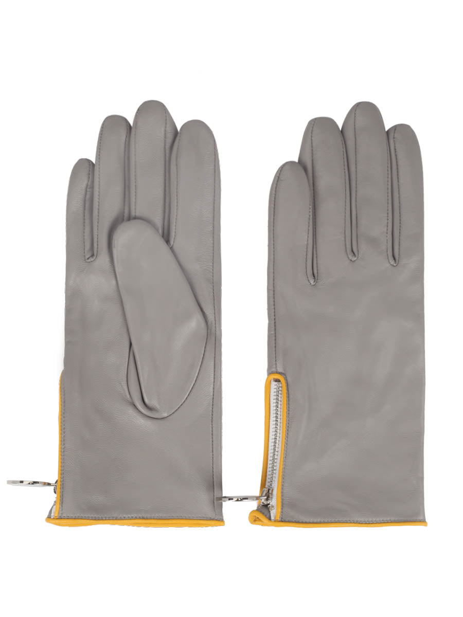 Nappa Leather Gloves (Pale Grey)