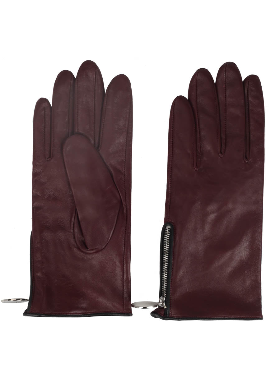 Nappa Leather Gloves (Burgundy)