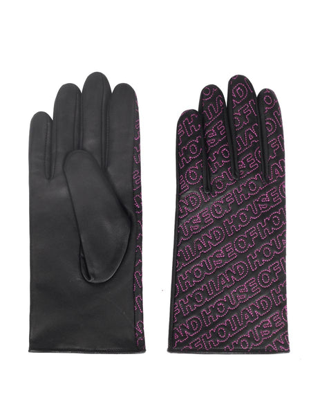Nappa Leather Logo Gloves (Magenta)
