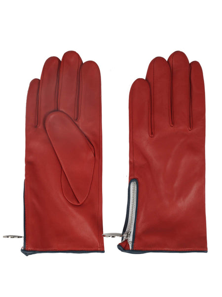 Nappa Leather Gloves (Burnt Orange)