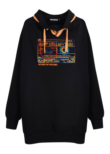 Cassette Oversized 2-Way Sweatshirt