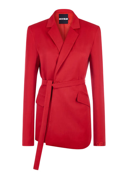 Veste de costume rouge