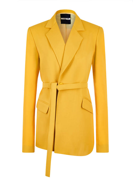 Gelbe Tailored Suit Jacke