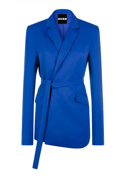 Blaue Tailored Suit Jacke