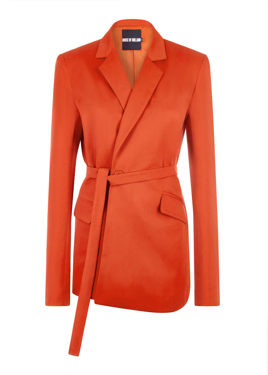 orange tailored suit jacket house of holland
