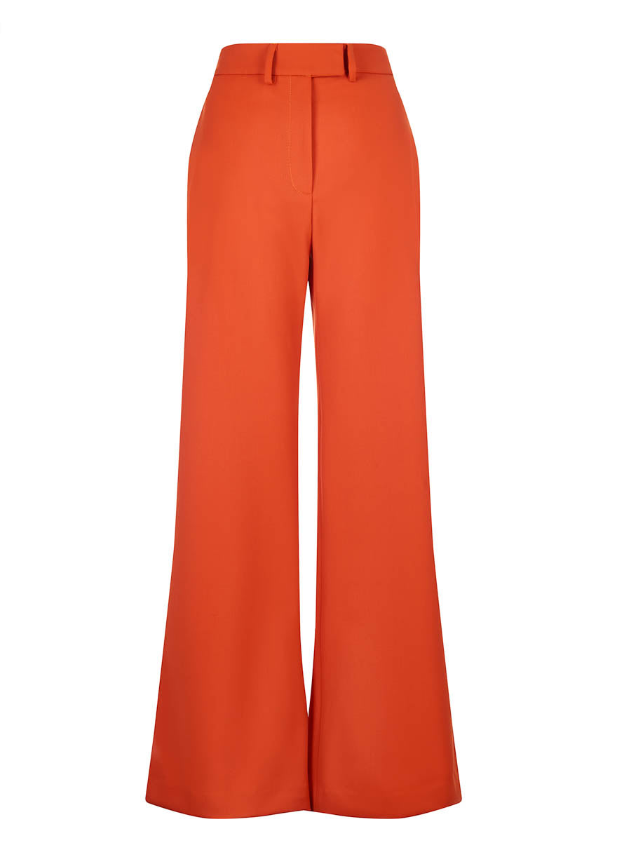 Orange Wide Leg Trouser