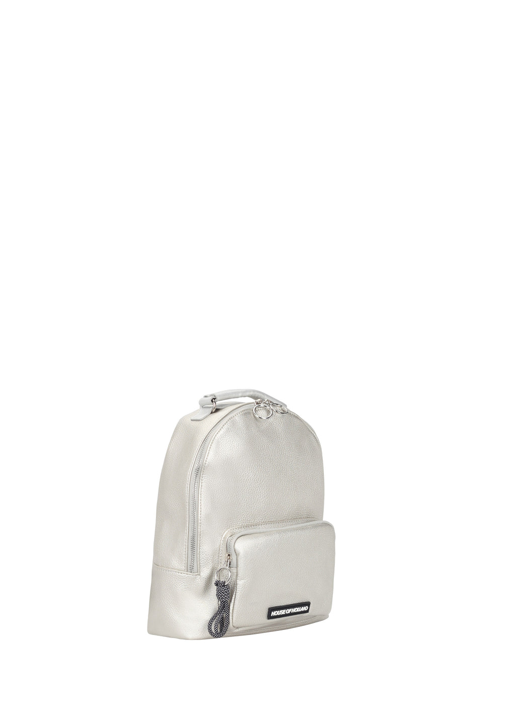 Silver Metallic Backpack