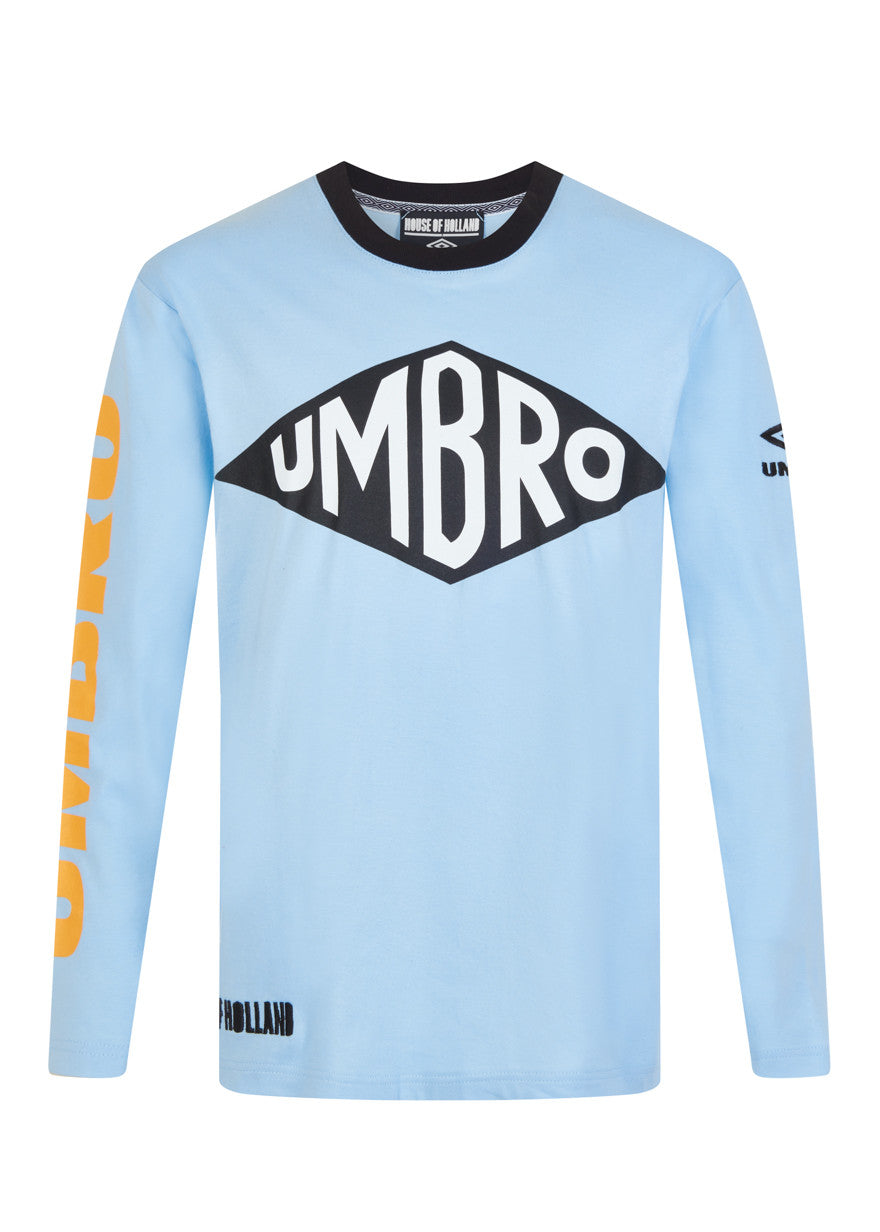 House of Holland x Umbro Blue Long Sleeve Tee