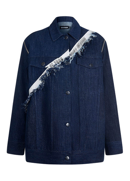 Taped Oversized Denim Jacket