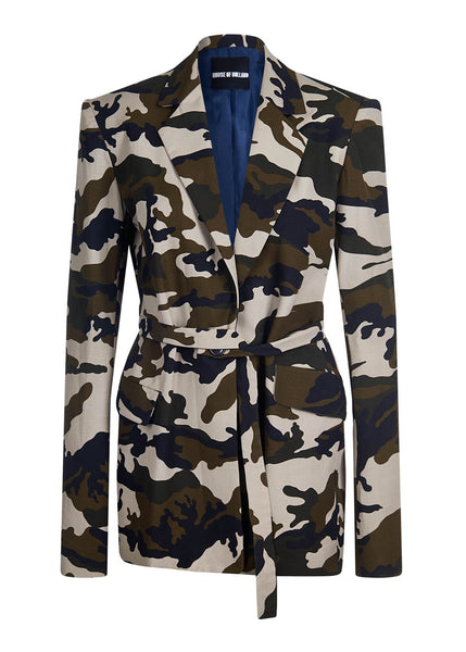 Camoflage Tailored Wool Jacket