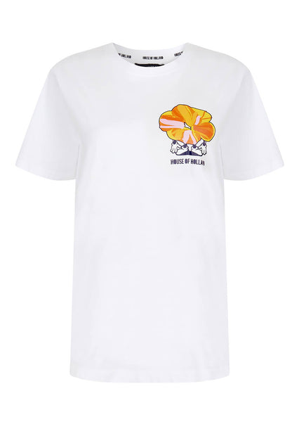 WHITE IRVIN FLOWER MAN TEE