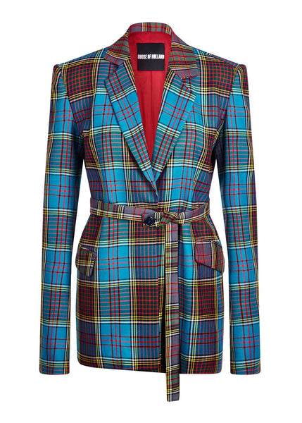 Tartan Tailored Wool Jacket