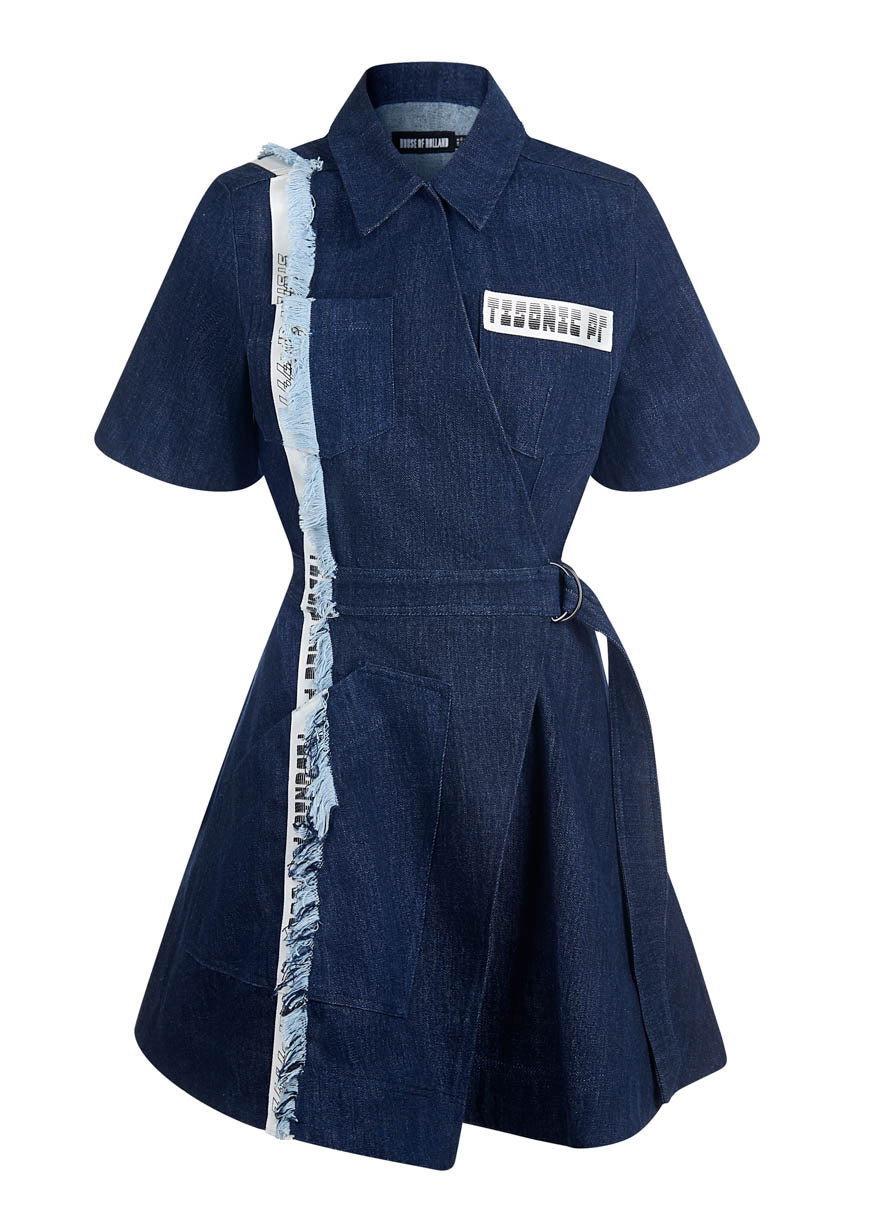 Taped Denim Dress By House of Holland