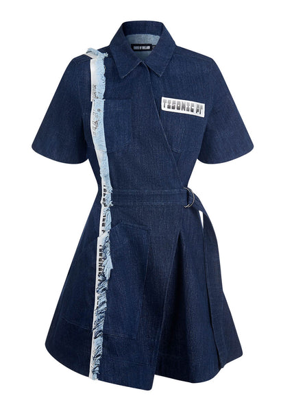 Taped Denim Dress