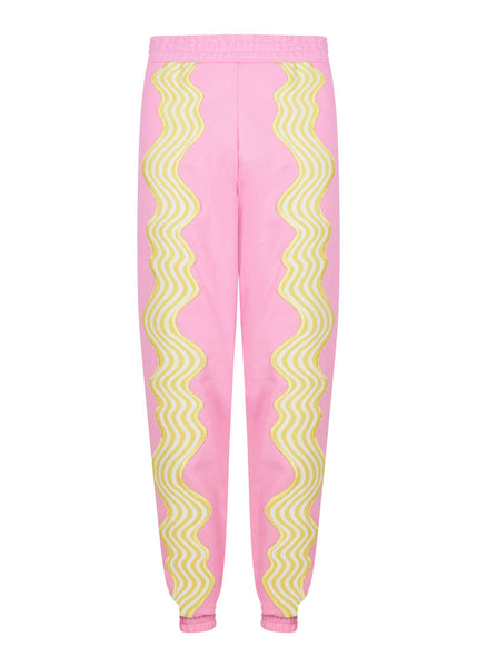 Wave Applique Sweatpant Pink